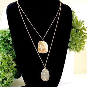 LANE BRYANT 2-in-1 layering pendant necklaces NWT